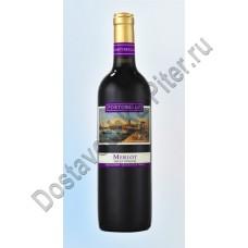Вино Портобелло Мерло Дель Венеция кр. п/слад. 11,5% 0,75л