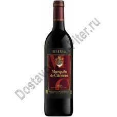 Вино Маркиз де Касерес Резерва кр. сух. 12% 0,75л