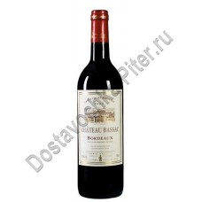 Вино Шато Басак Бордо кр.сух 0,75л 12,5% Франция