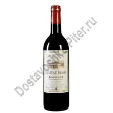 Вино Шато Басак Бордо (Shateau Bassac Bordeaux) красное сухое алк.12,5 % 0,75 л