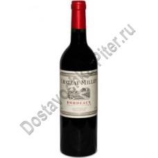 Вино Шато Милле Бордо АОС кр.сух 0,75л 12,5%