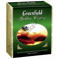Чай ГРИНФИЛД Golden Ceylon черный 100 пак