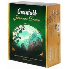 Чай ГРИНФИЛД зеленый Jasmine Dream 100 пак