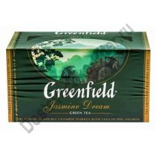 Чай ГРИНФИЛД зеленый Jasmine Dream 25 пак