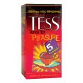 Чай TESS Pleasure черный шиповник яблоко 25 пак