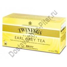Чай TWININGS черный Эрл Грей 25 пакетиков