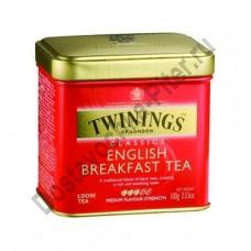 Чай TWININGS черный Английский Завтрак ж/б 100г