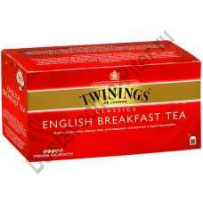 Чай TWININGS черный Английский Завтрак 25 пакетиков