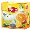 Чай LIPTON Citrus черный с цедрой цитрусовых 20 пирамидок