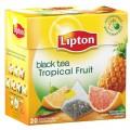 Чай LIPTON Tropical Fruit черный грейпфрут ананас 20 пирамидок