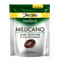 Кофе Jacobs Monarch Millicano растворимый с доб молотого 75г пак
