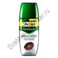Кофе Jacobs Millicano растворимый с доб молотого 95г ст/б