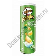 Чипсы Pringles Сметана/Лук 165г