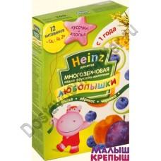 Каша молочная Хайнц Любопышки многозерновая фруктовая слива-абрикос-черника с 1 года 200г