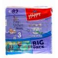 Подгузники Happy Midi 3 (5-9кг) 82шт.