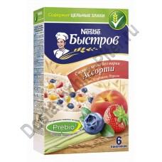 Каша овсяная Быстров Ассорти клубника/персик/черника 6х40г