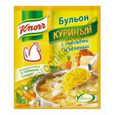 Бульон куриный Knorr овощи/зелень 75г
