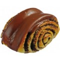 Булочка с маком в шоколадной глазури ОКЕЙ 100г