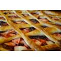 Пирог дрожжевой с брусникой и яблоком ОКЕЙ 100г