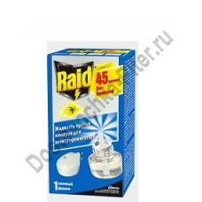 """Жидкость """"RAID"""" ликвид серебр. стерж. 45 ночей."""