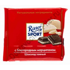 Шоколад Риттер Спорт горький с марципаном 100г