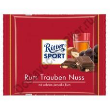Шоколад Риттер Спорт  молочный лесной орех/ром/изюм 100г