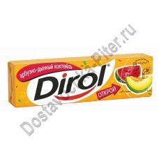 Жевательная резинка Dirol арбузно-дынный коктейль 14г