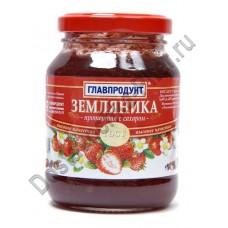 Земляника Главпродукт протертая с сахаром 330г ст/б