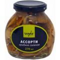 Ассорти грибное Vegda Product соленое Вегда 250г ст/б