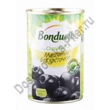 Маслины черные б/к Бондюэль 314г