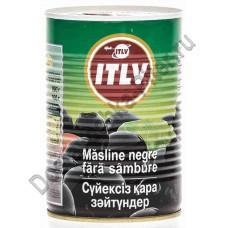 Маслины ИТЛВ черные без косточки 390г