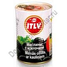 Маслины ИТЛВ черные с косточкой 390г