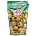 Оливки ITLV зелёные без косточки д/пак 195г