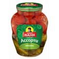 Ассорти овощное Дядя Ваня маринованное Огурцы и томаты 1800г