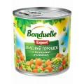 Горошек зеленый с морковью в кубиках Бондюэль 400г ж/б