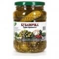Огурчики Кубаночка маринованные деликатесные 720мл ст/б