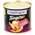 Паштет Нежный из печени индейки ж/б ГЛАВПРОДУКТ 240г