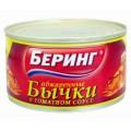 Бычки обжаренные Беринг в томатном соусе 240г