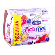 Продукт к/м Actimel лесные ягоды с липой 2,5% 100г