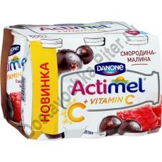 Продукт к/м Actimel смородина/малина 2,5% 100г