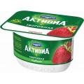 Биопродукт творожно-йогуртный Danone Активиа клубника 4,2% 130г