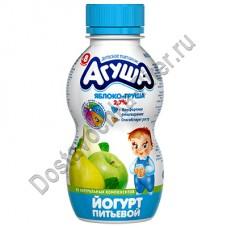 Йогурт АГУША яблоко-груша 2,7% 200г