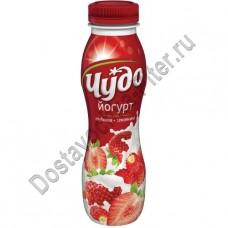 Йогурт питьевой ЧУДО клубника/земляника 2,4% 270г