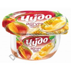 Йогурт ЧУДО двухслойный персик+манго 125г
