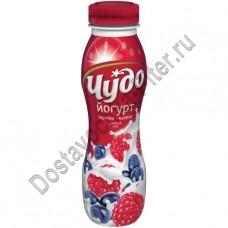 Йогурт питьевой ЧУДО черника/малина 2,4% 270г