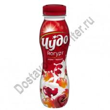 Йогурт питьевой ЧУДО вишня/черешня 2,4% 270г