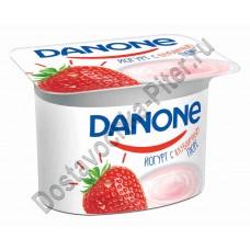 Йогурт Данон клубника 2,9% 110г