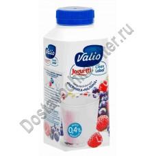 Йогурт ВАЛИО питьевой малина черника 0,4% 330г