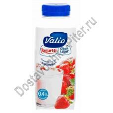 Йогурт ВАЛИО питьевой клубника 0,4% 330г