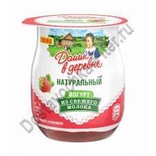 Йогурт Домик в деревне клубника 3% 150г